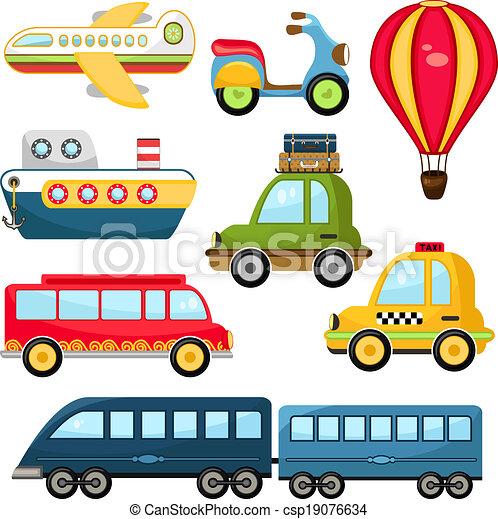 mignon, vecteur, transport - csp19076634