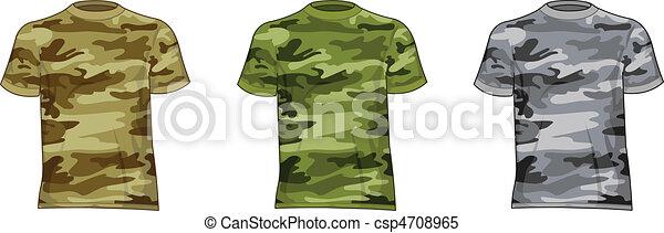 militaire, hommes, chemises - csp4708965
