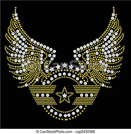 militaire, symbole, typon - csp2430366