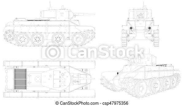 militaire, vecteur, réservoir, 05 - csp47975356