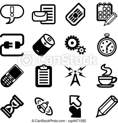 mobile, gui, applications, série, téléphone, ensemble, icône - csp4471582
