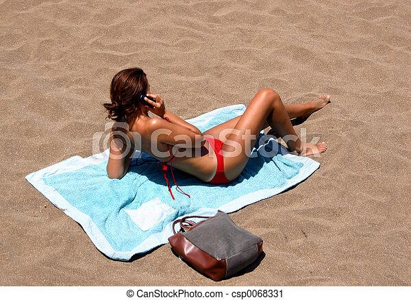 mobile, plage - csp0068331