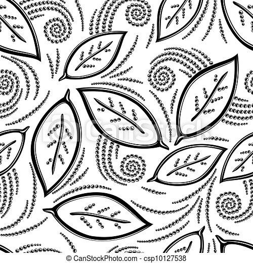 modèle floral, seamless - csp10127538