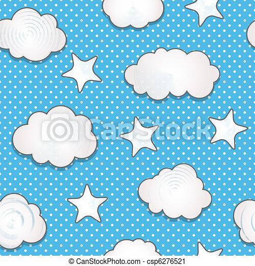 modèle, nuages, seamless - csp6276521