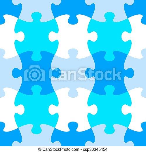 modèle, puzzle, puzzle, seamless - csp30345454