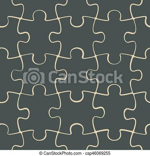 modèle, puzzle, puzzle, seamless - csp46069255