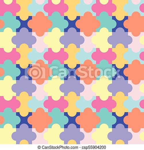 modèle, puzzle, puzzle, seamless - csp55904200