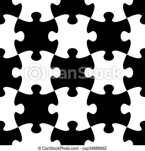 modèle, puzzle, puzzle, seamless - csp34888662