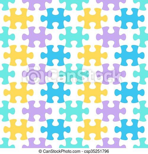 modèle, puzzle, puzzle, seamless - csp35251796