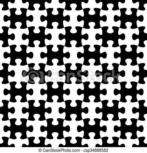modèle, puzzle, puzzle, seamless - csp34888582