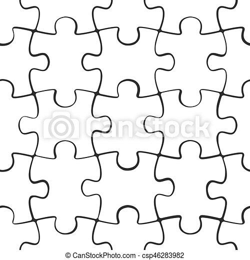 modèle, puzzle, puzzle, seamless - csp46283982
