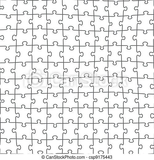 modèle, puzzle, puzzle, seamless - csp9175443