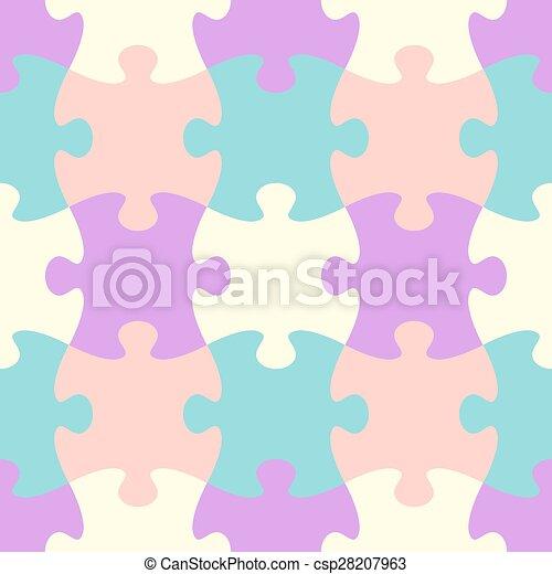 modèle, puzzle, seamless - csp28207963