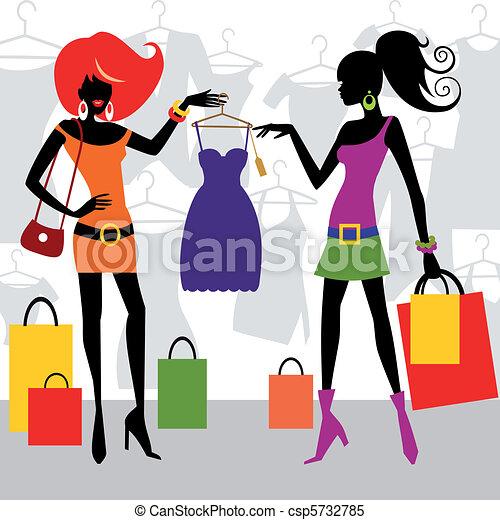 mode, achats, femmes - csp5732785