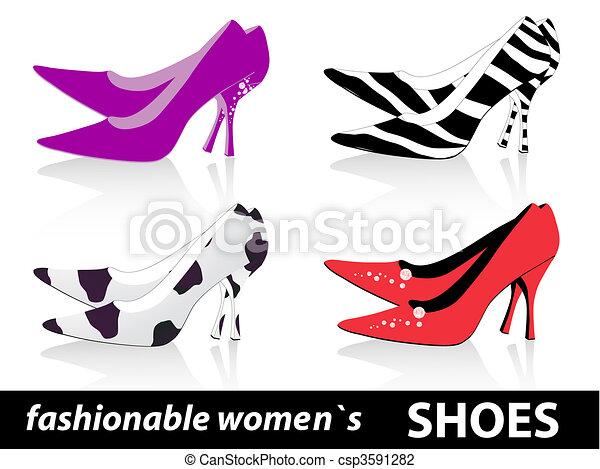 mode, chaussures, femmes - csp3591282