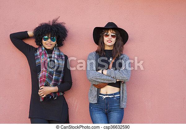 mode, filles, rue - csp36632590