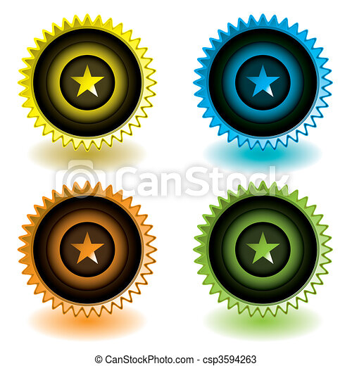 moderne, étoile, icône - csp3594263