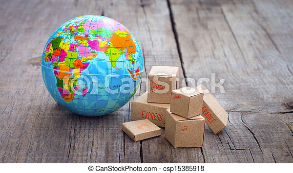 mondiale, exportation, importation - csp15385918