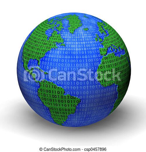 mondiale, numérique - csp0457896