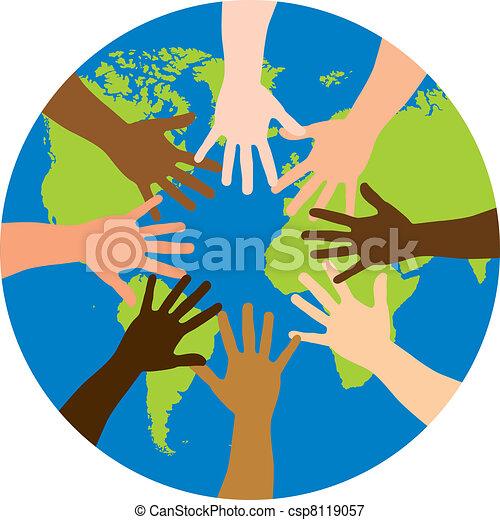 mondiale, sur, diversité - csp8119057