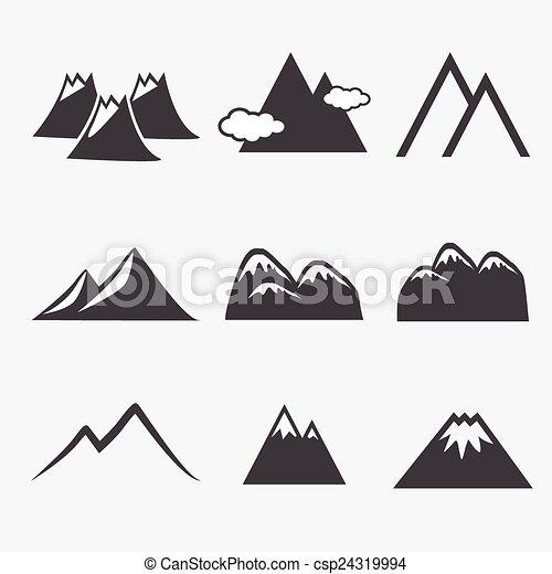 montagne, icônes - csp24319994