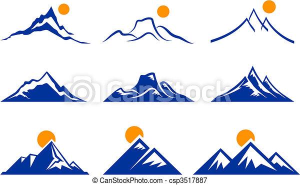 montagne, icônes - csp3517887