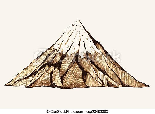 montagne, neigeux - csp23483303