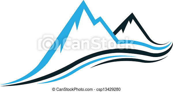 montagne, swoosh - csp13429280