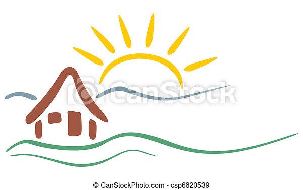 montagne, symbole - csp6820539