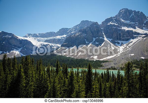 montagnes, parc national, lac, banff - csp13046996