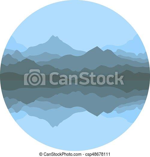 montagnes, résumé, brouillard - csp48678111