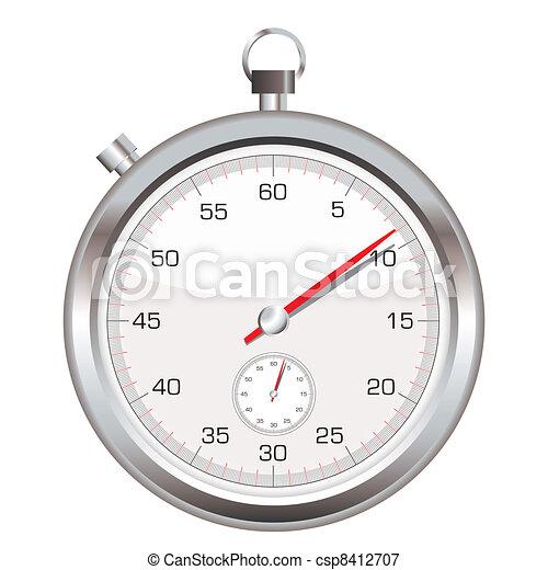 montre arrêt, icône - csp8412707