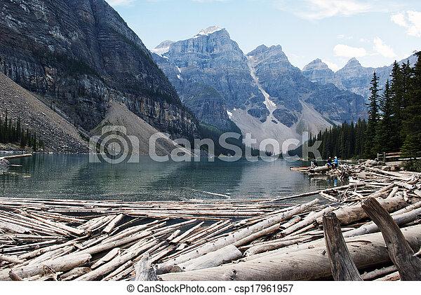 moraine, parc national, lac, banff - csp17961957
