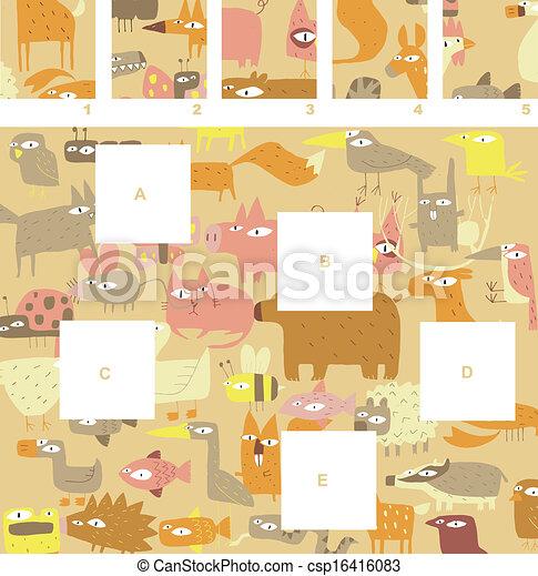 morceaux, visuel, jeu, allumette - csp16416083