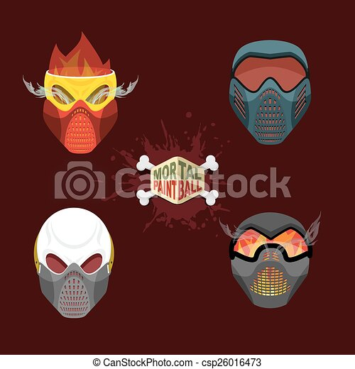 mortel, paintball, mask. - csp26016473