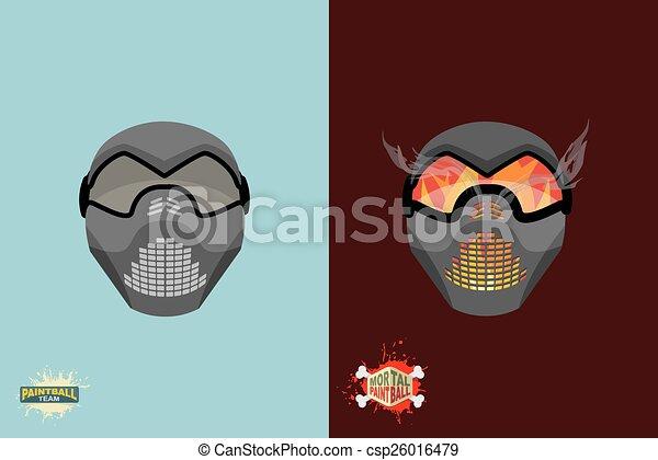 mortel, paintball, mask. - csp26016479