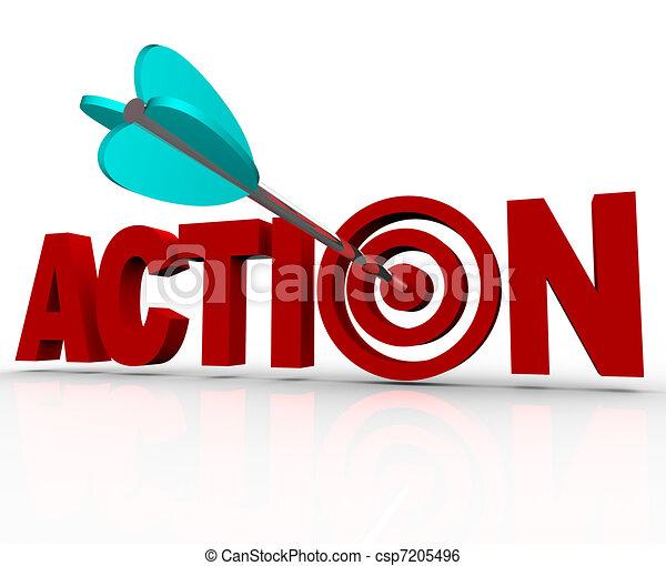 mot, cible, centre, urgent, acte, besoin, maintenant, action - csp7205496