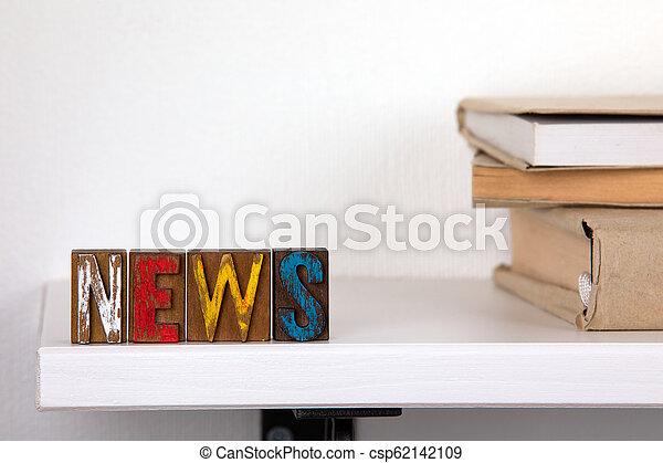 mot, coloré, bois, -, nouvelles, lettres - csp62142109
