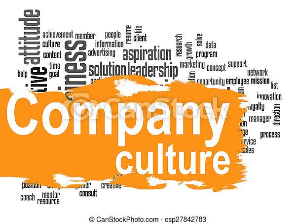 mot, compagnie, jaune, culture, bannière, nuage - csp27842783