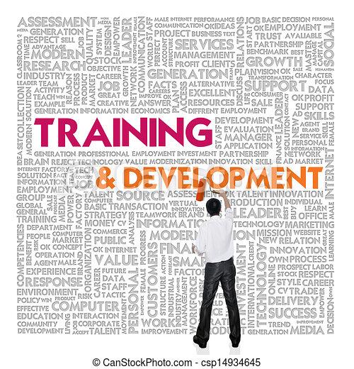mot, concept, formation, nuage, développement affaires, finance - csp14934645