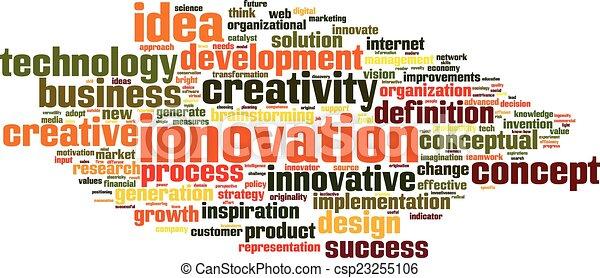 mot, nuage, innovation - csp23255106