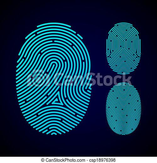 motifs, types, empreinte doigt - csp18976398