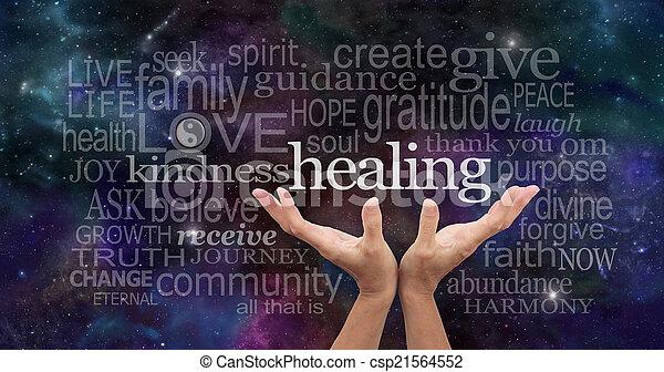 mots, infini, guérison - csp21564552