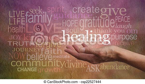 mots, résonance, guérison, élevé - csp22527444