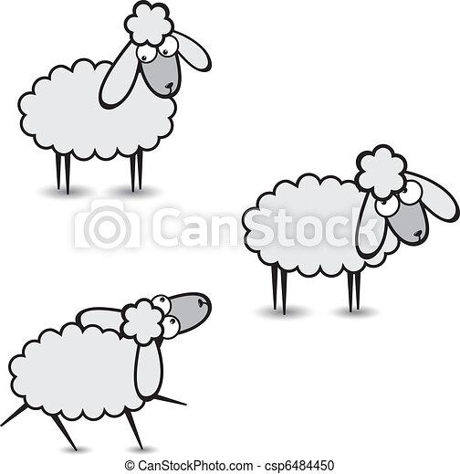 mouton, gris - csp6484450