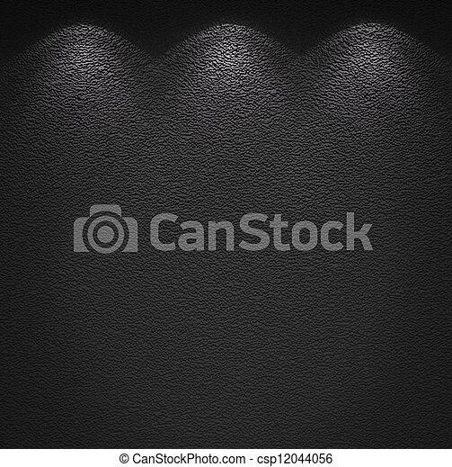 mur, éclairé, texture, gris - csp12044056