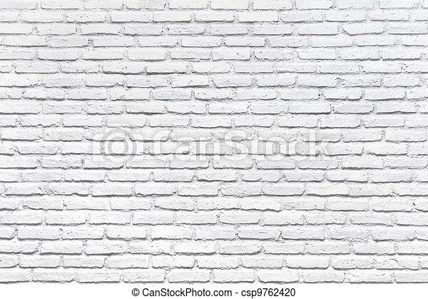 mur, brique blanche, fond - csp9762420