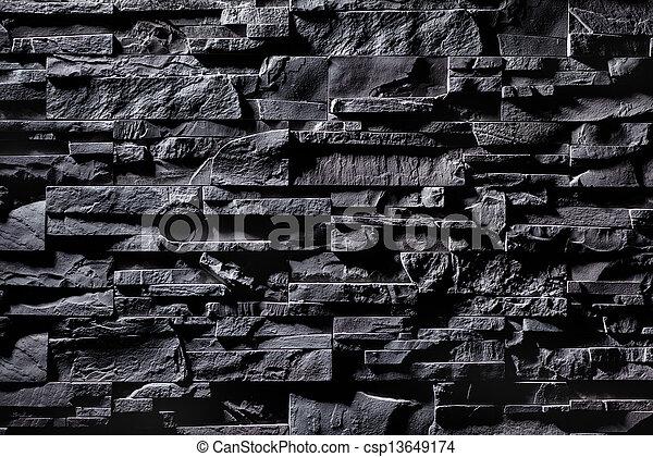 mur, pierre, gris, texture - csp13649174