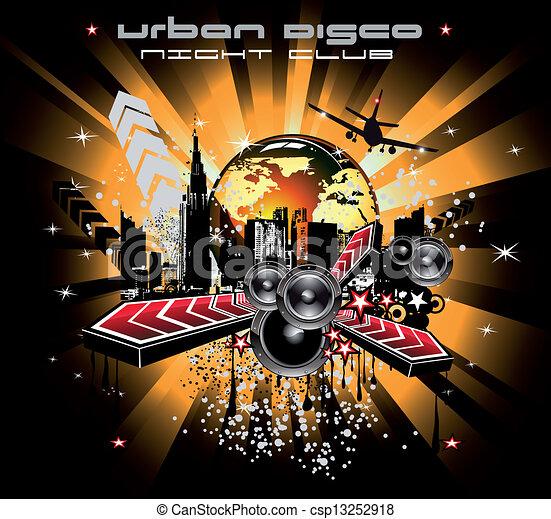 musique, fond, disco - csp13252918