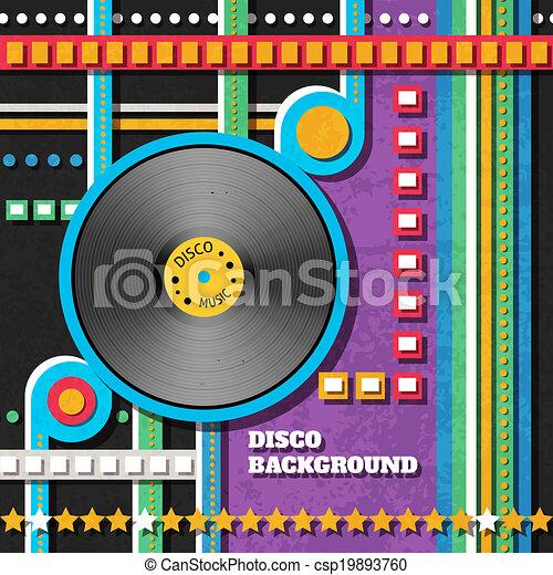 musique, fond, disco - csp19893760